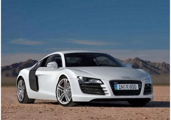 White Audi R8 - Free vector #148979