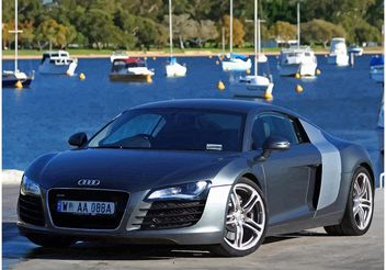 Silver Audi R8 Wallpaper - vector gratuit #148989