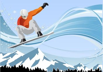 Snowboard Fun - Free vector #148999