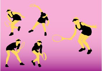 Tennis Silhouettes - Free vector #149009