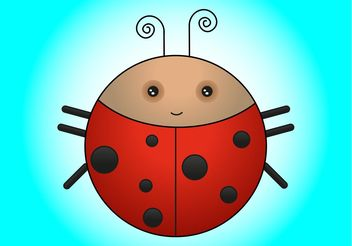 Ladybird Cartoon - vector gratuit #149029