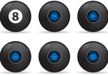 Magic 8 Ball Vectors - vector gratuit #149179