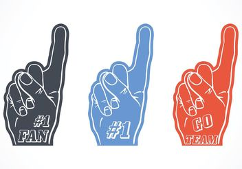 Free Vector #1 Foam Finger Set - бесплатный vector #149189