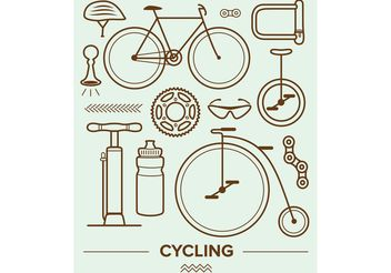 Cycling Vector Icons - vector gratuit #149199