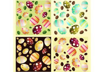 Colorful Easter Eggs - Free vector #149279