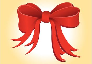 Christmas Ribbon Vector - Free vector #149309