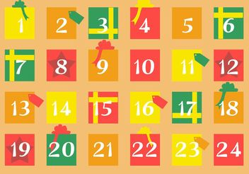 Gift Advent Calendar - vector #149339 gratis