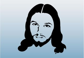 Jesus Face Graphics - vector gratuit #149469