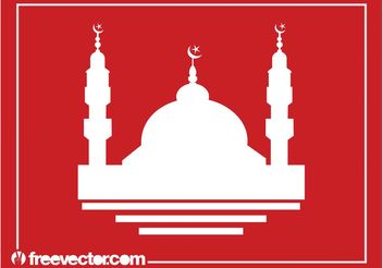 Mosque Silhouette - Kostenloses vector #149509
