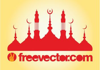Mosque Silhouette Vector - Free vector #149559