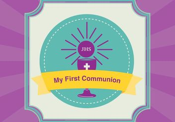 First Communion Card Vector - vector gratuit #149619