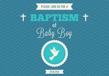 Free Baby Boy Baptism Vector Invitation - Kostenloses vector #149649