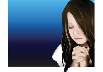 Praying Girl - vector gratuit #149659