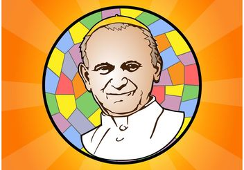 Pope John Paul II - vector #149669 gratis