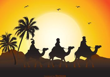 Three Wise Men Illustration - Free vector #149689
