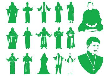 Priests Silhouettes Graphics - vector #149699 gratis