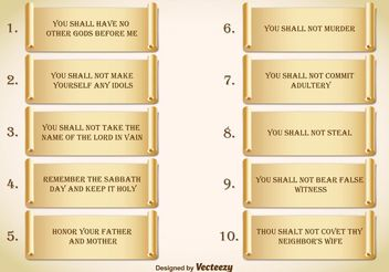 Ten Commandments - Free vector #149709