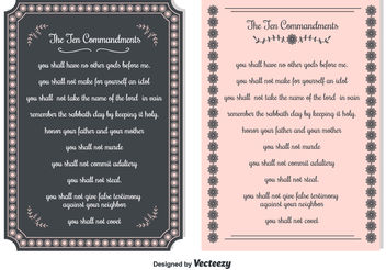 Ten Commandments Backgrounds - vector #149759 gratis