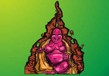 Smiling Buddha - vector gratuit #149789