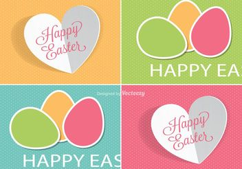 Cute Easter Labels Vectors - vector gratuit #149809