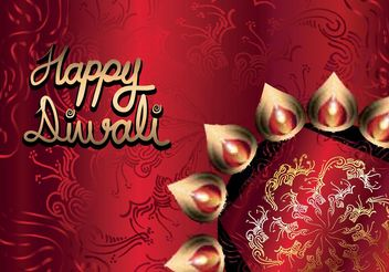Happy Diwali Vector Background - vector gratuit #149849