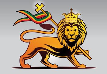Lion of Judah Vector - Kostenloses vector #149859