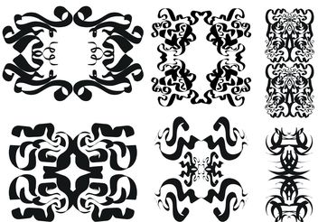 Free Tribal Vector Ornament Set - Free vector #149879