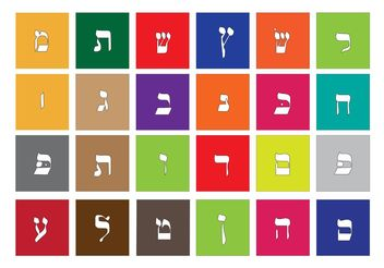 Vector Hebrew Alphabet - vector #149949 gratis