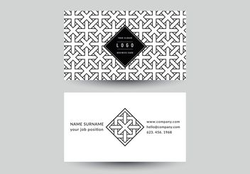 Free Geometric Business Card Vector Template - vector gratuit #149959