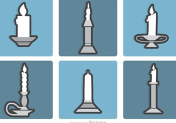 Set Of Silver Candlesticks Vectors - vector gratuit #149979