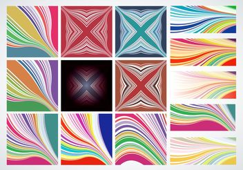 Lines Patterns - vector gratuit #150039