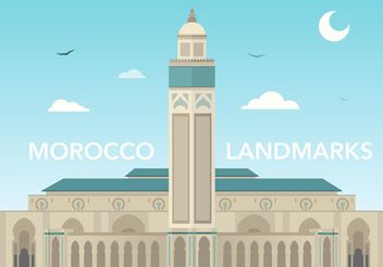 Free Morocco Hassan Mosque Vector - Free vector #150189