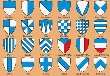 Heraldic Shield Shapes - vector gratuit #150239