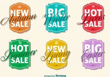 Seasonal Big Sale Sign Vectors - бесплатный vector #150259