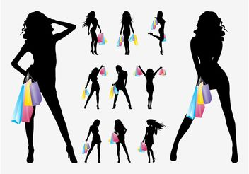 Shopping Girls Vector - бесплатный vector #150289