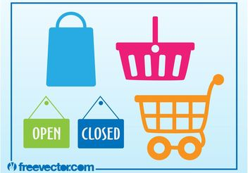 Shopping Vector Icons - Free vector #150299