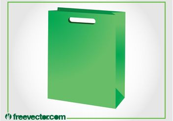 Green Paper Bag Vector - бесплатный vector #150309