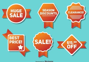 Seasonal Sale and Discount Badges - vector gratuit #150329