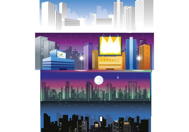 Free City Skyline Vectors - Free vector #150339