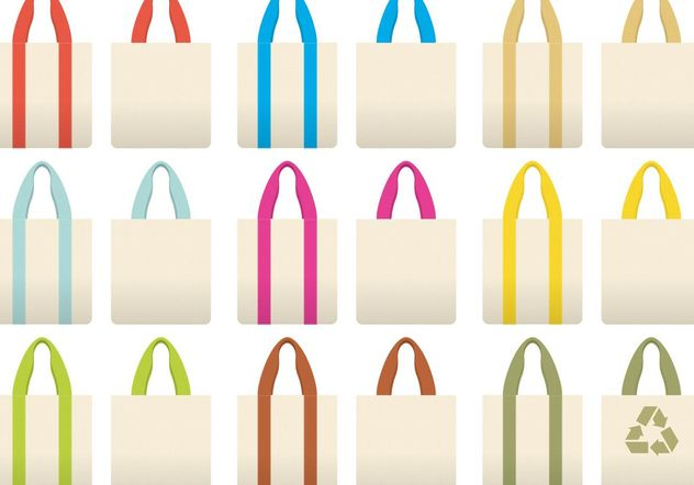 Colorful Cloth Bag Vectors - vector gratuit #150349