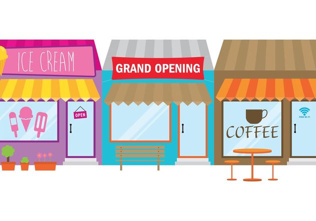 Grand Opening Store Sign - Free vector #150389