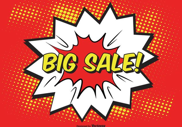 Comic Style Sale Illustration - Free vector #150399