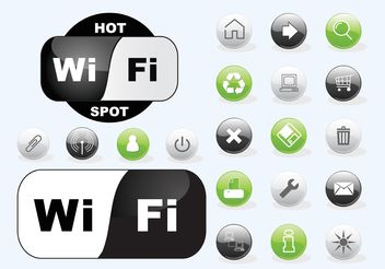 Wifi Icons - vector #150449 gratis