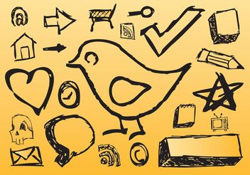 Hand Drawn Icons - Free vector #150469