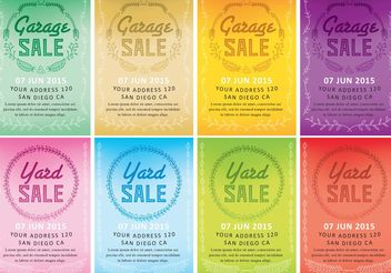 Garage and Yard Sale Invitation Vectors - Free vector #150499
