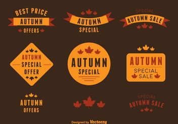 Autumn Deal Vector Labels - vector gratuit #150529