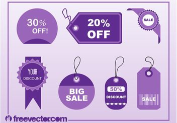 Shopping Tags Vectors - бесплатный vector #150539