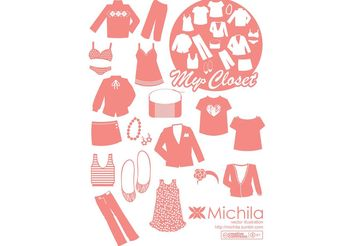 My Closet Fashion Vector Pack - Free vector #150549