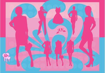 Fashion Silhouettes - Free vector #150569