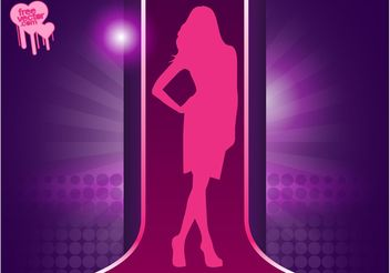 Fashion Model Girl - Free vector #150579